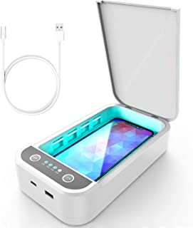Cell Phone Sanitizer UV Lights Portable Phone Soap Sterilizer Box, Aromatherapy Function Disinfector Smart Phone Cleaner for iPhone Android Mobile Phone Toothbrush Keys
