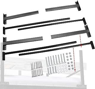 NIXFACE Adjustable Roof Ladder Racks Fit for Trailers Vans Trucks