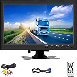 $69 » OiLiehu 10.1 inch HD Monitor 2 Channel Video Input for Mini TV & Computer Display LCD Color Screen for Car Backup Camera &...