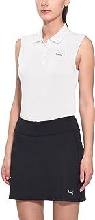 Baleaf Women's Golf Sleeveless Polo Shirts Quick Dry UPF 50+