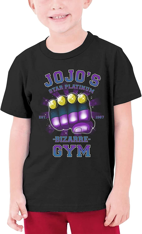 Anime JoJo's Bizarre Adventure T Shirt Teen Boys' Summer Leisure Crew Neck Top Tee