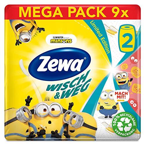 Zewa Wisch&Weg Fun Design Küchenrolle, Mega Pack, 9 Packungen (18 Rollen x 72 Blatt)