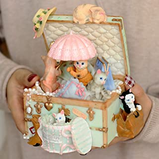 Sponsored Ad - LOVE FOR YOU Cute cat Treasure Chest Music Box for Girls Women Wives Baby Kids Girlfriends Daughters Home D...