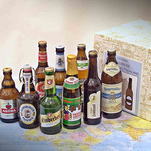 Premium Geschenkbox Biere aus Deutschland + besondere Biere aus Deutschland + ausgefallene Geschenkidee für Bierliebhaber + Männer + Freunde + Papa + Opa + Onkel