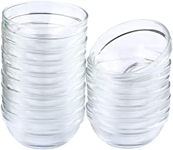 Maredash Mini Bowls 4 Inch Glass Bowls for Kitchen Prep, Dessert, Dips, and Candy Dishes ,4oz Stackable Dishware safe ,Set...