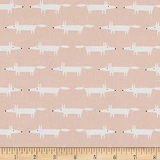 FreeSpirit Fabrics Dakarai Little Mr. Fox Fabric, Blush, Fabric By The Yard
