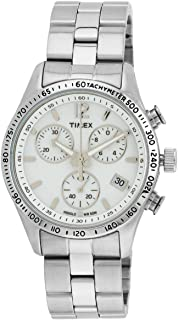 Timex Women's Expedition T2P059 Silver Stainless-Steel Analog Quartz Watch with White Dial