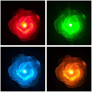 LED Light up Accessories for Hair - Glowing Rose, Light up Flower, Glow in the Dark, LED Hair, Flashing LED Light-up Toys, Glow Barrettes, Bar Dancing Clip, Light up Hair Accessories LED Party Favor