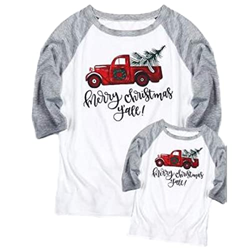 1807d9e1d649d Mommy and Me Merry Christmas Y all Baseball T-Shirt Women 3 4