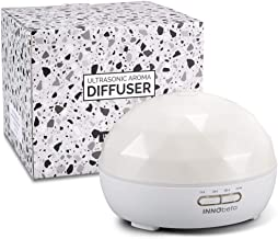 Diffuser for Essential Oil, 300ml Quiet Aroma Humidifier with 7 Color LED for Aromatherapy, Bedroom, Office, Home, Living Room, Study, Yoga, Spa (White)