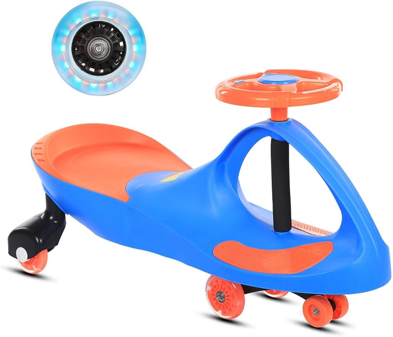 Kinder Twist Auto Baby Yo Auto Mute Flash Rad Schaukel Auto Musik Rutsche Auto 1-7 Jahre Alt 80  35  41 cm (Farbe   Blau)