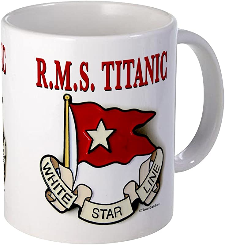 CafePress White Star Line RMS Titanic Mug Unique Coffee Mug Coffee Cup