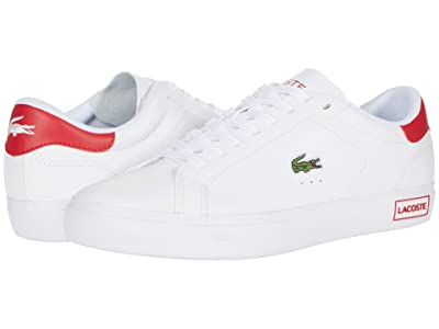 Lacoste Powercourt 0520 1 (White/Red) Men