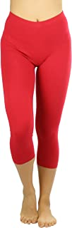 ToBeInStyle Women's Premium Cotton Capri Leggings