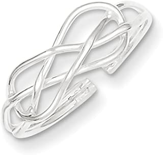 Lex & Lu Sterling Silver Solid Toe Ring LAL22029