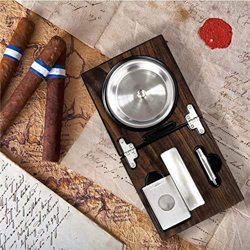 CASTRO Cigar Ashtray with cigar accessories, puncher cutter and slot, Luxury Gift for Cigar smokers