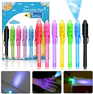 [14 Stück ]Geheimstift mit UV-Licht, Nasharia mehrweg Unsichtbar Schreiben durch Licht..