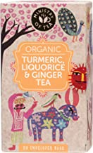 Ministry of Tea Organic Turmeric, Liquorice and Ginger Herbal 20 Tea Bags, 20 Pieces