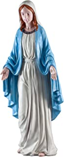 """Fox Valley Traders Virgin Mary The Blessed Mother Statue, Sculpture for Your Garden/Lawn/Patio, Weather-Resistant Resin, 19 ½"""" Tall"""