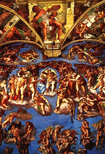 Sistine Chapel Poster, Ceiling Fresco by Michelangelo, Rome, Italy