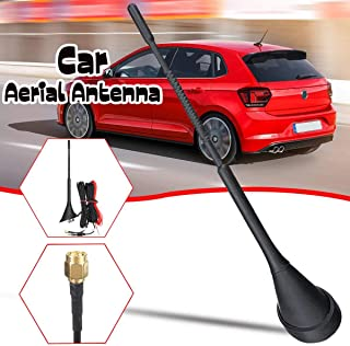 TOYECOTA - 3 IN 1 DAB +FM/AM Car Radio Antenna Aerial with Amplifier Roof Mount Active SMA Male 5m