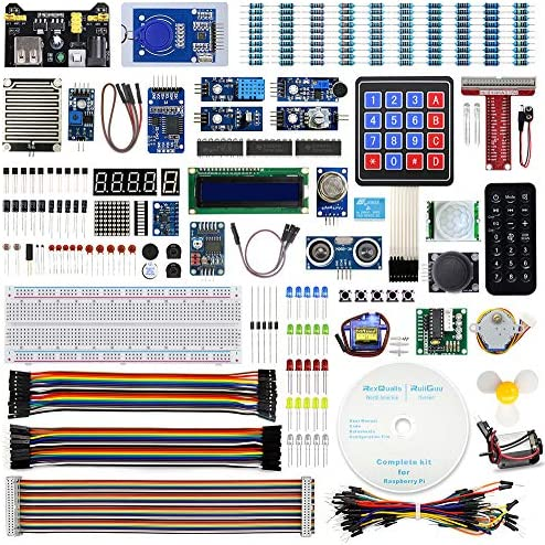 REXQualis Upgraded Complete Starter Kit for Raspberry Pi 4 B 3 B with Detailed Tutorials Support product image