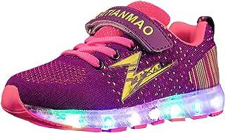 Unisex Scarpe LED Luminosi Sneakers,7 Colori USB Carica Light-up Scarpe,Ragazzi Ragazze Regalo Natale.Pasqua, Regalo di Ha...