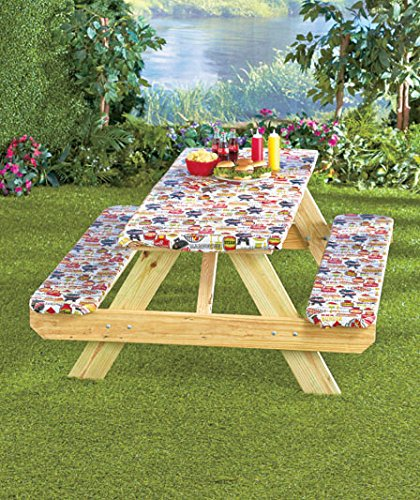 3Pc Picnic Table Covers Summertime Cookout