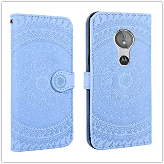 For Sony Xperia L2 Pressed Printing Pattern Horizontal Flip PU Leather Case with Holder & Card Slots & Wallet && Lanyard New (Gray) Dalee (Color : Blue)