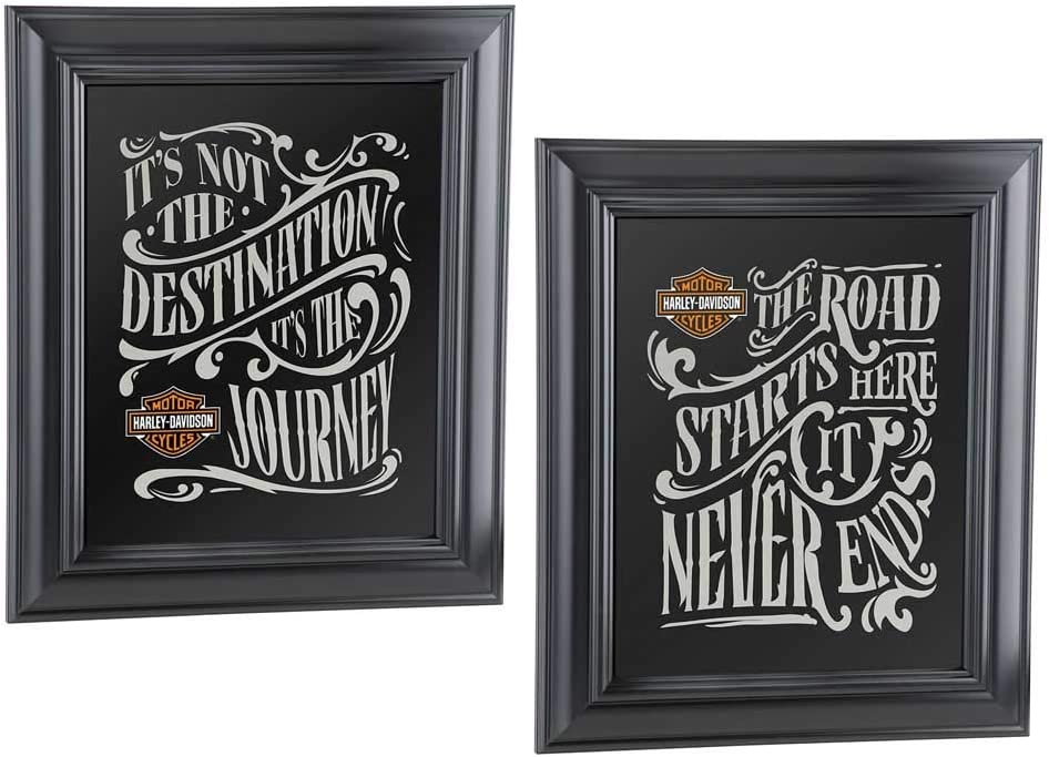 Harley-Davidson Destination Virginia Beach Mall Mirror Set - inc Black 12.5 x 10.75 Sale SALE% OFF