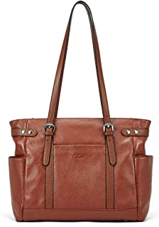 leather tote with laptop compartment