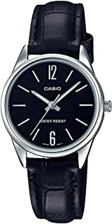 Casio Women'S Black Dial Leather Band Watch Ltp V005L 1Budf, Analog