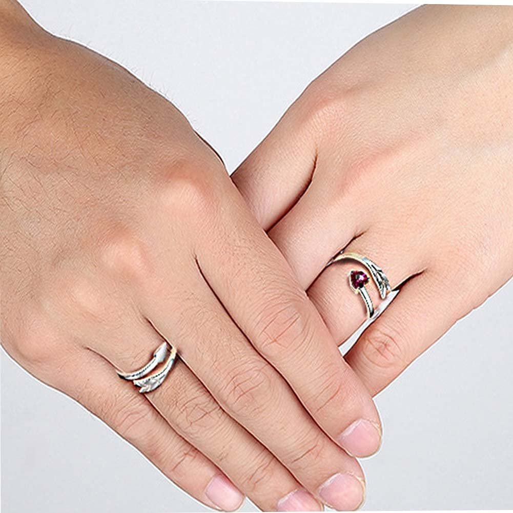 Cupid's Arrow Ring for Couples Simple Promise Ring Trendy Wedding Ring