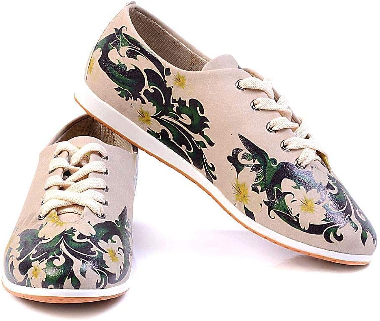 Goby Women's shoes ''Flower Power Slip-On Oxford Flat  SLV182