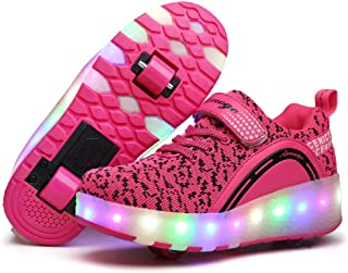 Roller Shoes Girls Boys Wheel Shoes Kids Roller Skates Shoes LED Light Up Wheel Shoes for Kids for Kids for Children