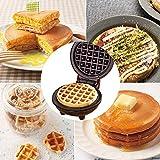 Hrtc Gofrera - Máquina para Hacer gofres, eléctrica Fabricante de gofres, Mini máquina Sandwichera de gofres para paninis, Galletas, Papas al Horno, almuerzos o bocadillos para Llevar (1 Pack)
