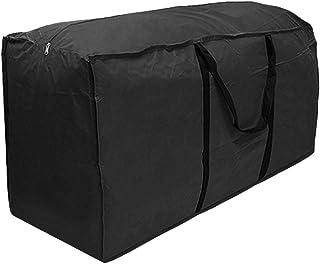 Zarome Bolsa de almacenamiento de cojines de asiento para muebles de exterior Con cremallera y asas Tela al aire libre Impermeable A prueba de polvo Almacenamiento navideño Para almacenamiento benefit