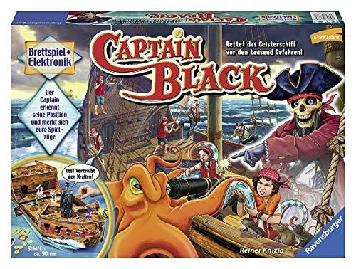 Ravensburger 22293 - Captain Black - Elektronisches Brettspiel für Erwachsene und Kinder ab 6 Jahren, Ideal für Spieleabende mit Freunden oder der Familie für 1-4 Spieler