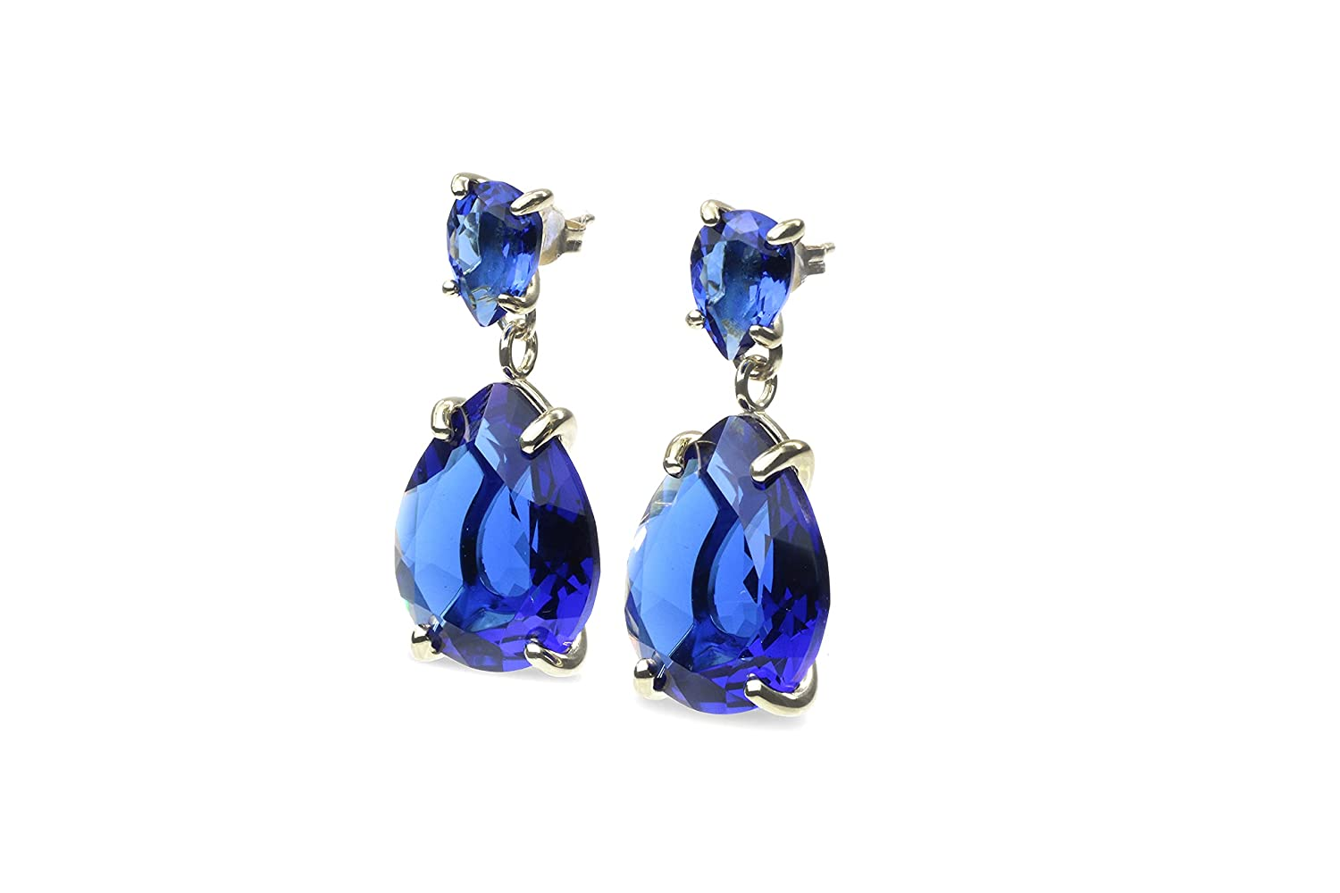 Our Max 63% OFF shop OFFers the best service Anemone Double Blue Sapphire Dangle - Earrings Stunning