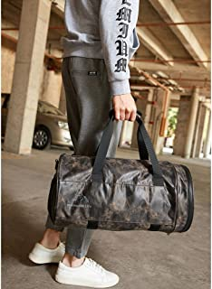 Travel Duffle Holdall for Luggage Gym Sports, Holdall With Shoes Compartment (Color : Brown)