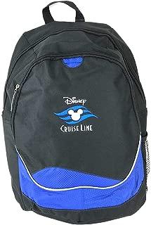Disney Cruise Line Mickey Ear Icon Logo Backpack Black Blue 17 inch