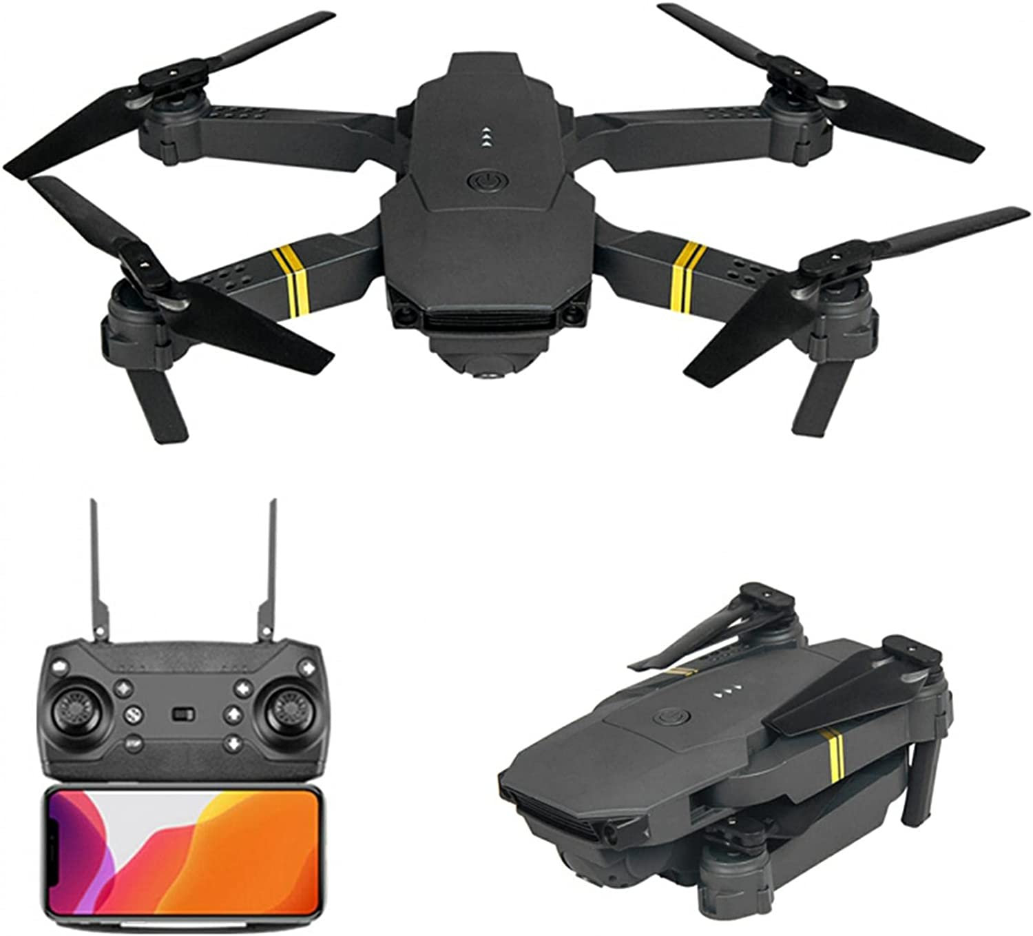 BYCZ Drones with Camera for Kids Adults 4K/1080P/720P, 6-Axis, Wifi FPV Quadcopter, One Key Start, Auto Return Home