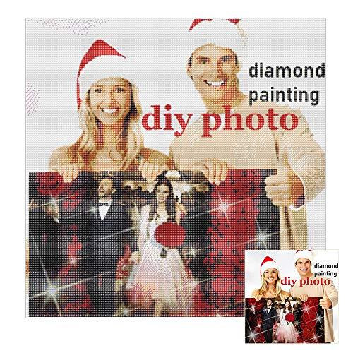 Kit Peinture Diamant 5D DIY, Personnalisé Personnalisé DIY 5D Diamant Peinture par Nombre Kits Full Drill Broderie Peintures Photos Arts Artisanat pour la Maison Mur Décor