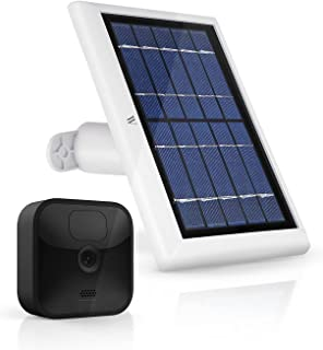 Wasserstein Solar Panel with Internal Battery Compatible with Blink XT and Blink XT2 Outdoor Camera (White)