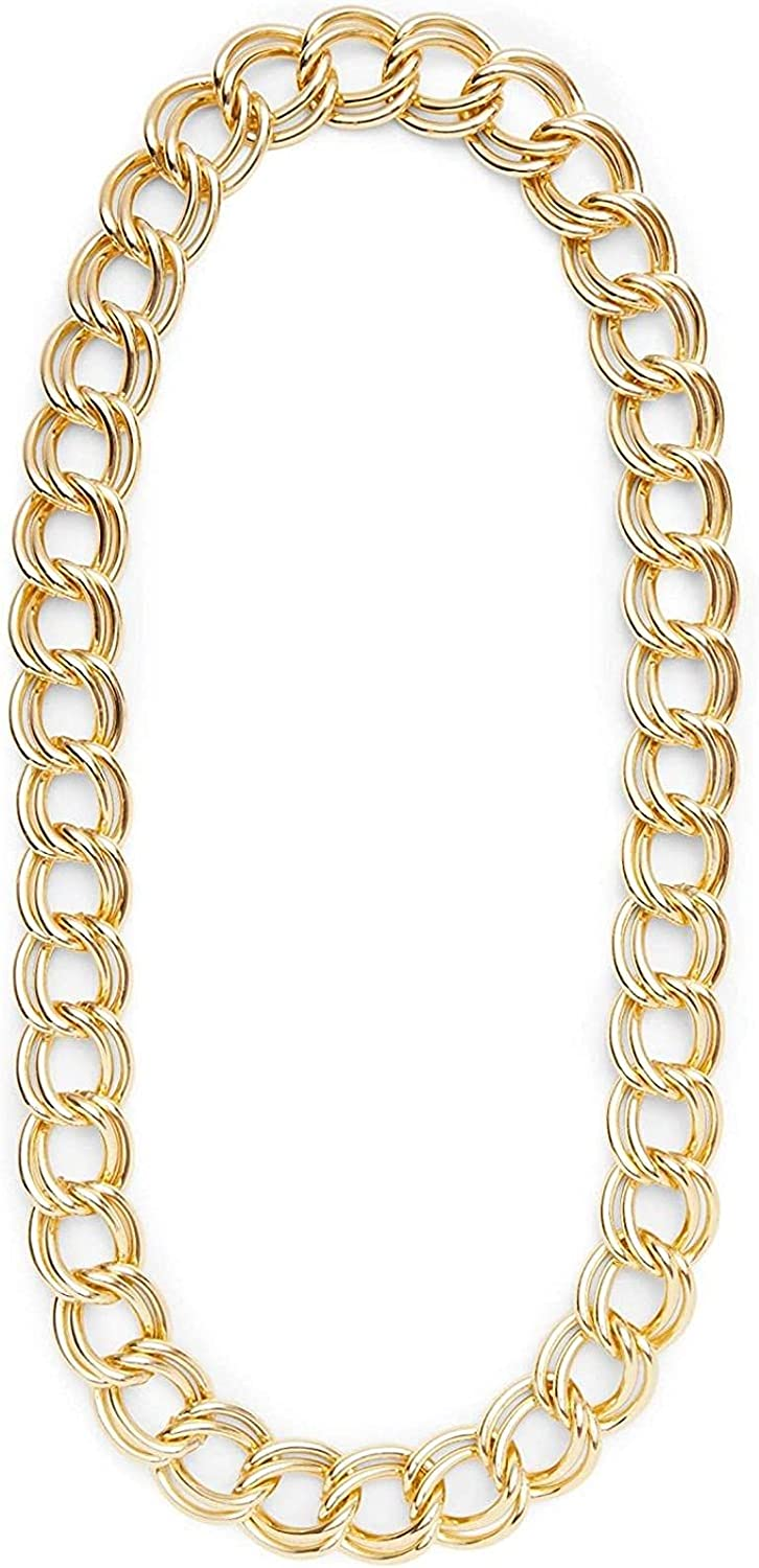 Gold Necklace Chain for Halloween Costume, Hip Hop Accessories (36 Inches)