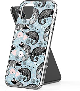 RobertsShop Graphic Ornamental Chameleon Case Cover Compatible for iPhone iPhone (11 Pro Max)
