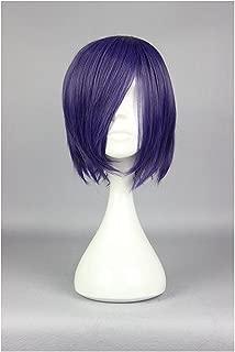COSPLAZA Short Dark Purple Kirishima Role Play Anime Cosplay Wig Girl Costume Accessory