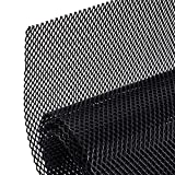 AggAuto Universal 40'x13' Car Grill Mesh - Aluminum Alloy Automotive Grille Insert Bumper Rhombic Hole 4x8mm, One of the Most Multifunctional Shape Grids Black