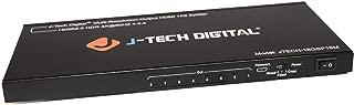 J-Tech Digital Scaler/Multi-Resolution Output (MRO) 18GBps 1x8 HDMI 2.0 Splitter HDR10/Dolby Vision 4K@60Hz 4:4:4 [JTECH-18GSP18M]
