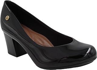 Sapato Scarpin Feminino Moleca Salto Bloco Médio Verniz Leve